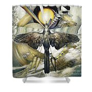 A Painting Alludes To Powers That Might Enable Birds To Migrate. Shower Curtain
