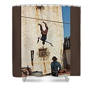 A Pair Of Stuntmen Perform At Old Tucson Shower Curtain