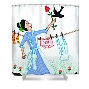 A Pocketful Of Peas 4 Shower Curtain