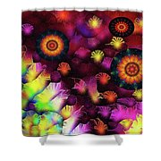 A Poets Birthday Dance Through Fire And Rain 2019 Shower Curtain