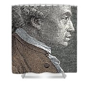 A Portrait Of Immanuel Or Emmanuel Kant Shower Curtain