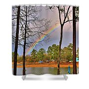 A Pot Of Gold On Lake Murray South Carolina Shower Curtain by Lisa Wooten