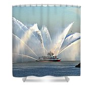 A Pumper Shower Curtain