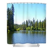 A Quiet Place - Bass Lake Shower Curtain