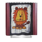 A Red Lion.  Shower Curtain