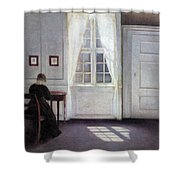 A Room In The Artist's Home In Strandgade, Copenhagen, With The Artist's Wife - Digital Remastered Shower Curtain