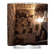 A Room Inside Masada Shower Curtain