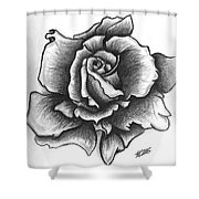 A Single Rose Shower Curtain by Marissa McAlister