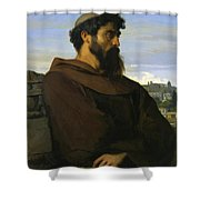 A Thinker A Young Roman Monk Shower Curtain