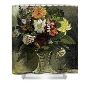 A Vase Of Flowers, 1833 Shower Curtain