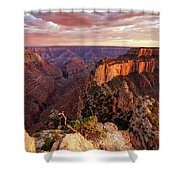 A View From Cape Royal Shower Curtain by Rick Furmanek