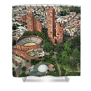 A View Of Downtown Bogota Shower Curtain
