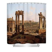 A View Of The Forum Romanum Shower Curtain
