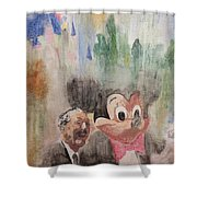 A Walk With Walt Shower Curtain