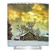 A Winter Eve Shower Curtain