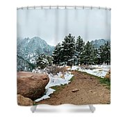 A Winter's Day In The Flatirons Shower Curtain