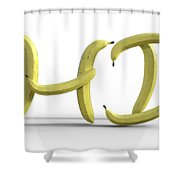 A Yellow Hello Shower Curtain