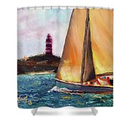 Abaco Rage On The Mark Shower Curtain