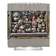 Abandoned Doll Heads Shower Curtain
