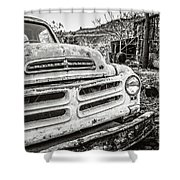 Abandoned Ghost Town Studebaker Truck Shower Curtain