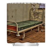 Abandoned Hospital Bed Shower Curtain