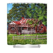 Abandoned Old Farm House Shower Curtain