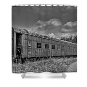 Abandoned Railroad Car In Rural New Brunswick Shower Curtain
