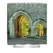 Abbey Gateway St Albans Hertfordshire Shower Curtain