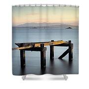 Aberdour Pier Shower Curtain