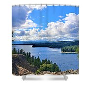 Above The Waters Shower Curtain