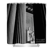 Abraham Lincoln Memorial Washington Dc Shower Curtain by Edward Fielding