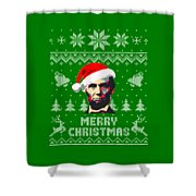 Abraham Lincoln Merry Christmas Shower Curtain