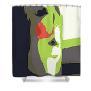 Abstract 980 Shower Curtain