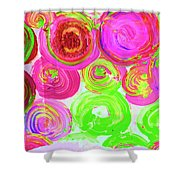 Abstract Flower Crowd Shower Curtain