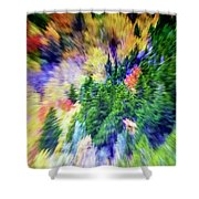 Abstract Forest Photography 5501f1 Shower Curtain by Ricardos Creations