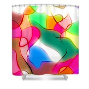 Abstract G1 Shower Curtain