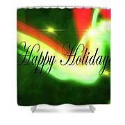 Abstract Holiday Shower Curtain
