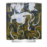 Abstract Human Figure Shower Curtain