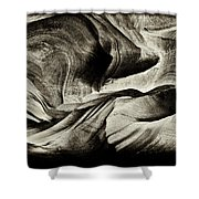 Abstract In Sandstone Slots Shower Curtain