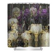 Abstract Iris Garden Shower Curtain by Robert G Kernodle