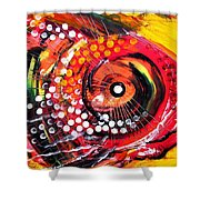 Abstract Lion Fish Shower Curtain