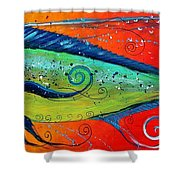 Abstract Mahi Mahi Shower Curtain