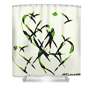 Abstract On Acrylic Shower Curtain