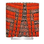 Abstract Oranges Blacks Browns Yellows Rows Columns Angles 3152019 5476 Shower Curtain