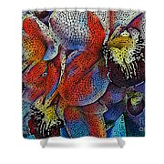 Abstract Orchids.  Shower Curtain