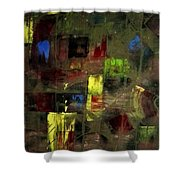 Abstract Patchwork Shower Curtain