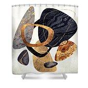 Abstract Pebbles IIi Shower Curtain