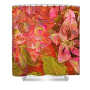 Abstract Pink Lilies Shower Curtain
