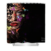 Abstract Portrait No 12 Shower Curtain