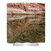 Abstract Reflections On Lake Powell Shower Curtain